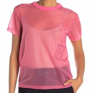 HELMUT LANG Femme Little Tee Prism Pink NWT! Small